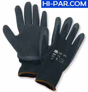 Guante nylon negro y latex 688-NYL